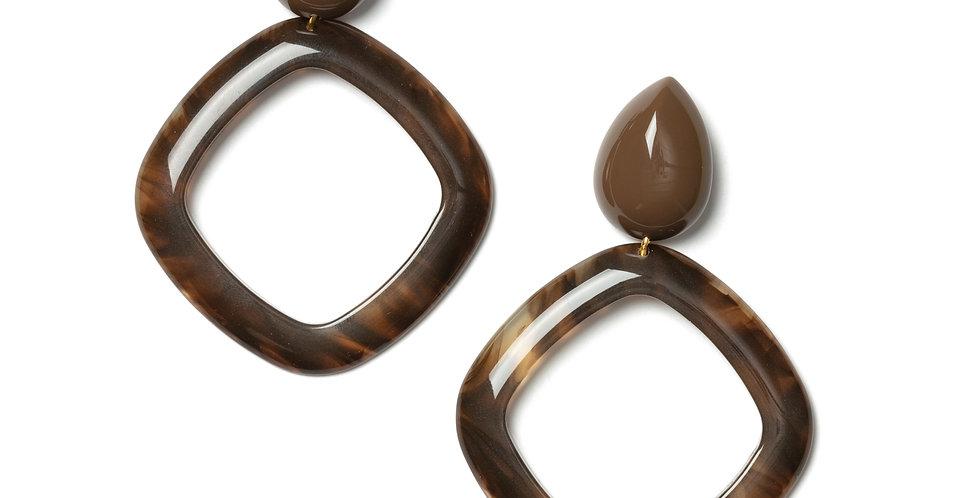 Mineral earrings brown