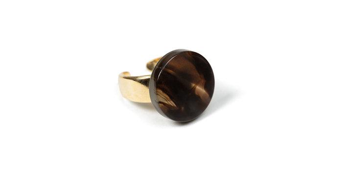 Cotton ring brown