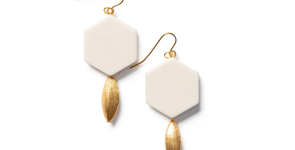 Hagi earrings beige