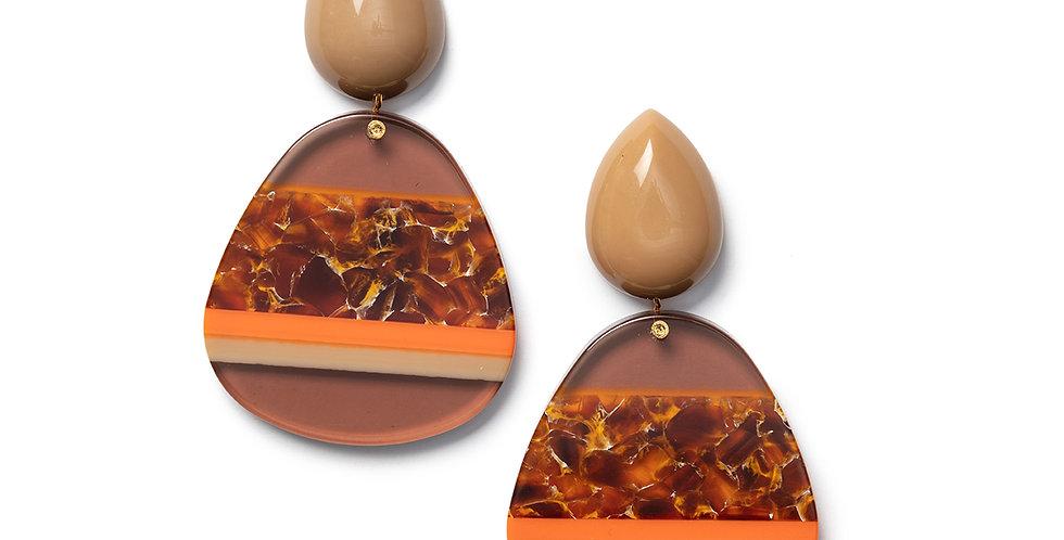 Shima earrings camel