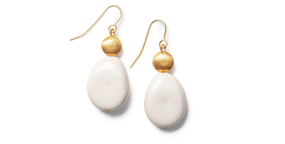 Saki earrings beige