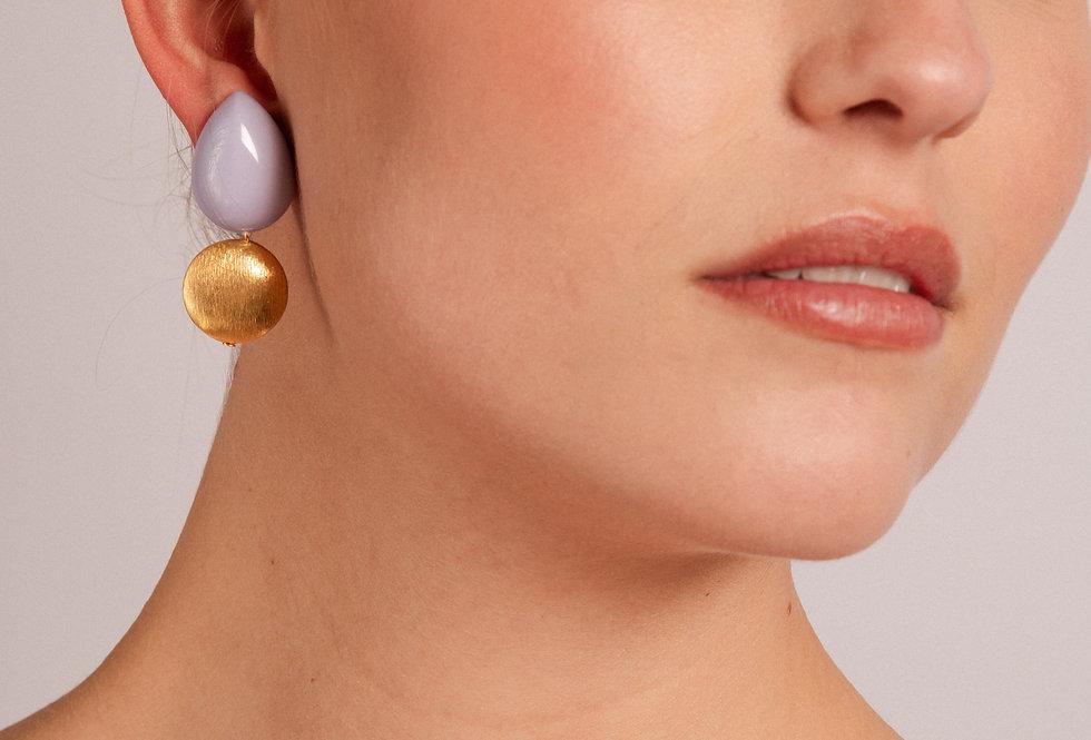Agua earrings lila