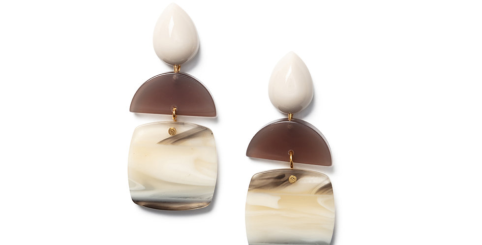 Uma Earrings beige