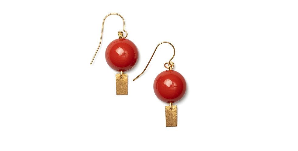 Rojo earrings coral