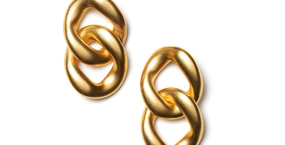 Pyrite earrings gold