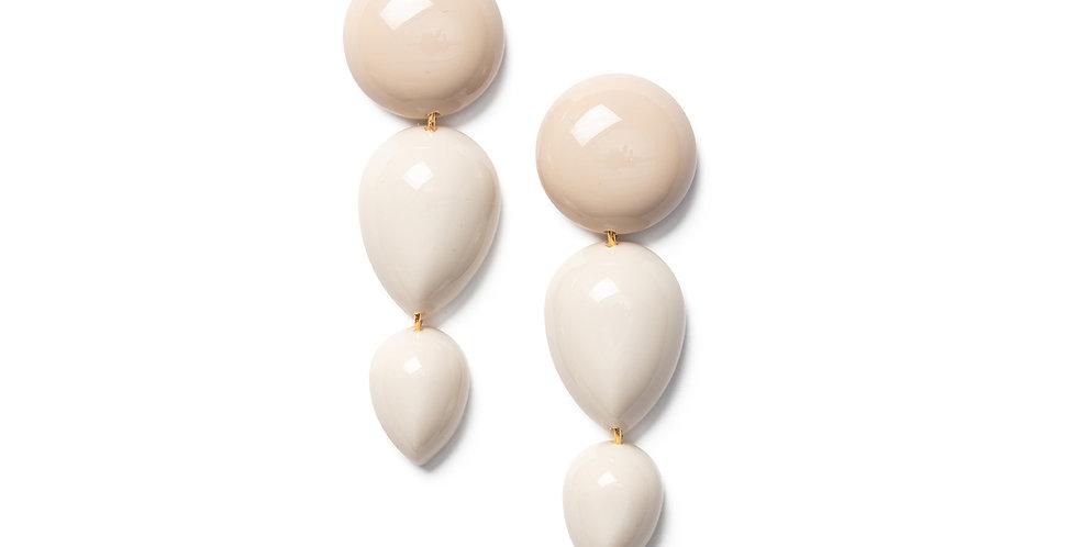 Joetsu earrings greige