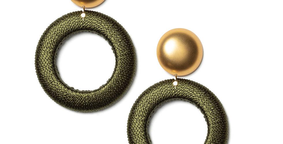 Twill earrings green