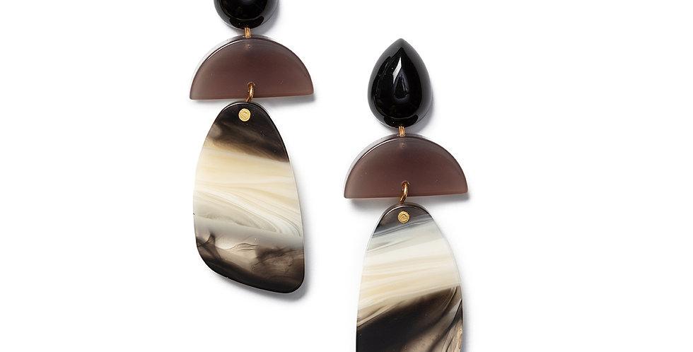 Shika earrings black