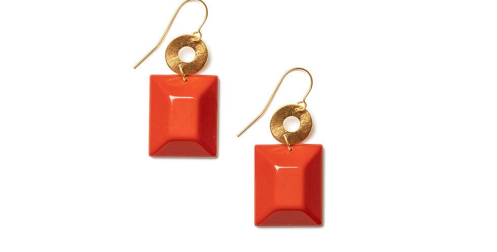 Pecas earrings coral
