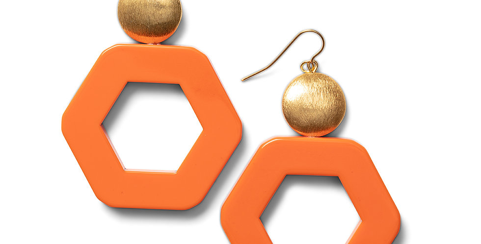 Izu earrings orange
