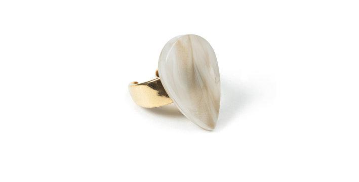 Tweed ring beige
