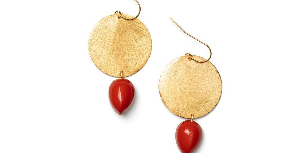 Paz earrings coral