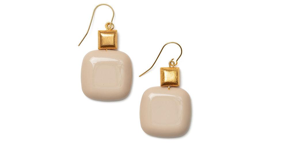 Vuelo earrings cream