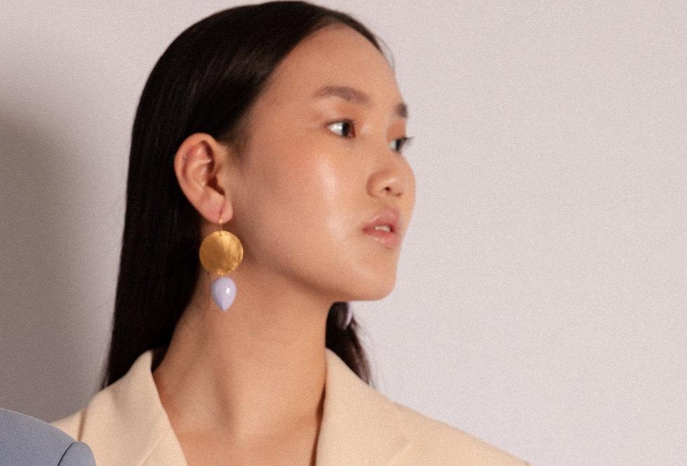 Iris earrings lila