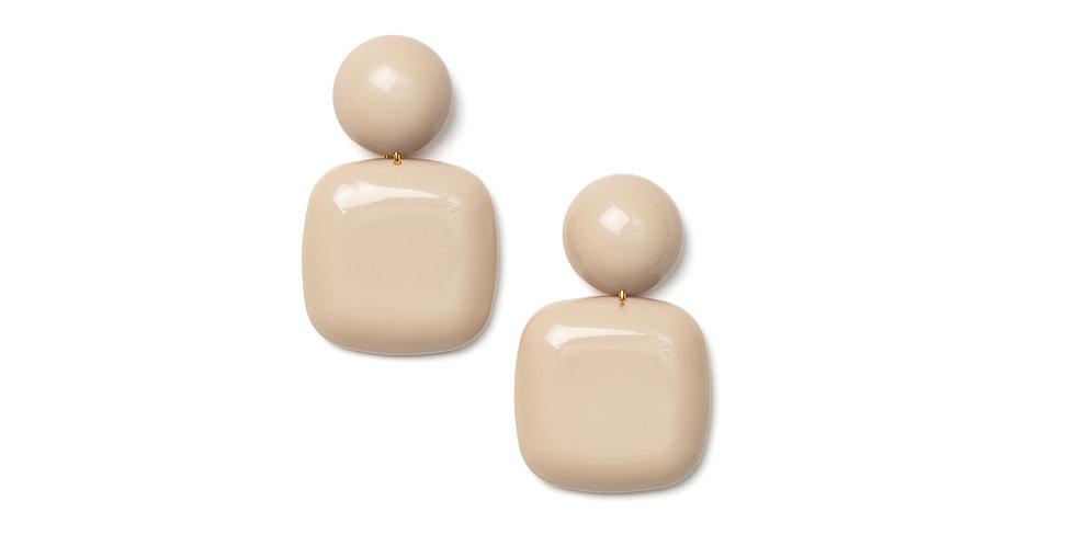 Azul earrings cream