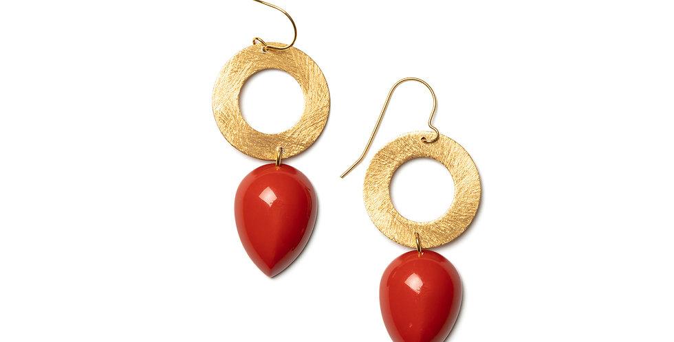 Vistas earrings coral