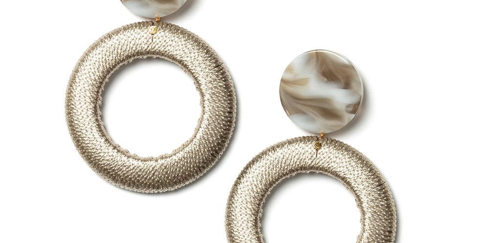 Willow earrings beige