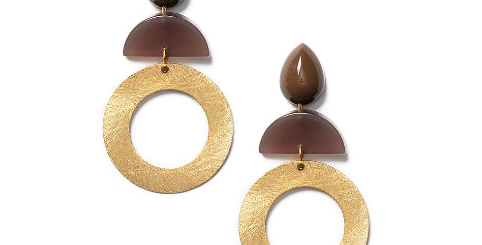 Hato Earrings khaki