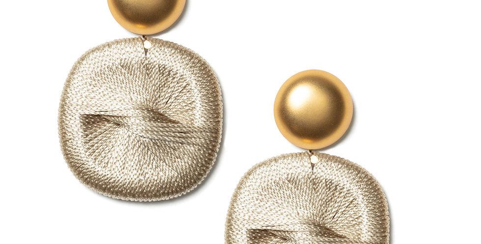 Jade earrings beige