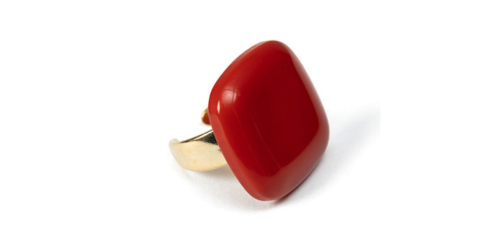 Amor ring coral