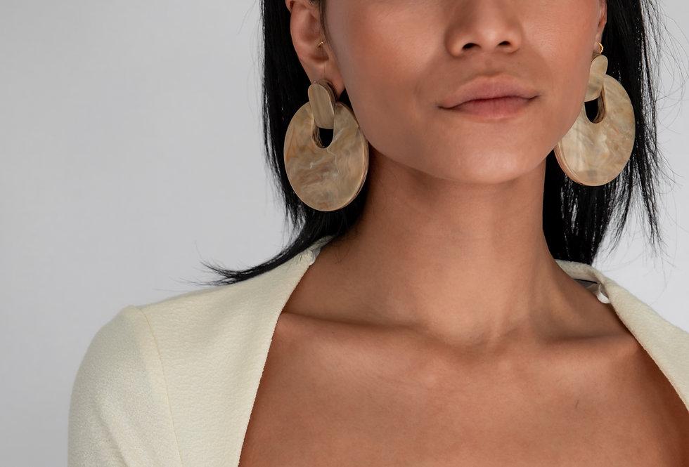 Mizu earrings camel