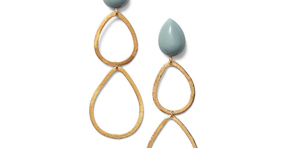Saku earrings blue