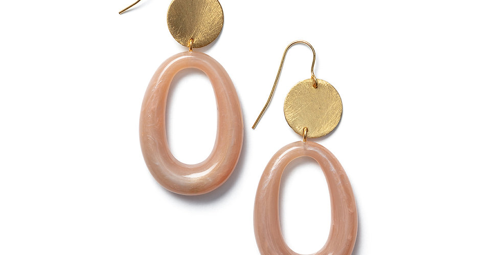 Tsu earrings rose