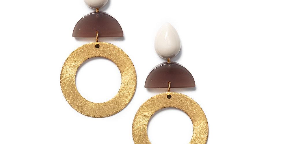 Hato Earrings beige