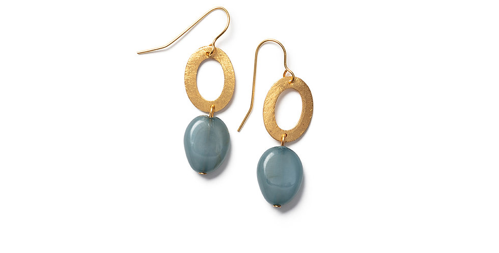 Keshi earrings blue