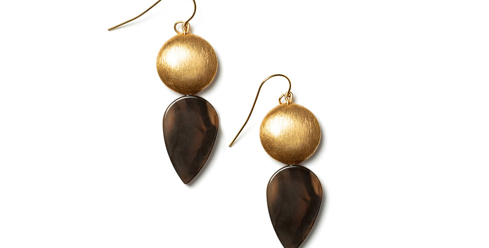 Clay earrings brown