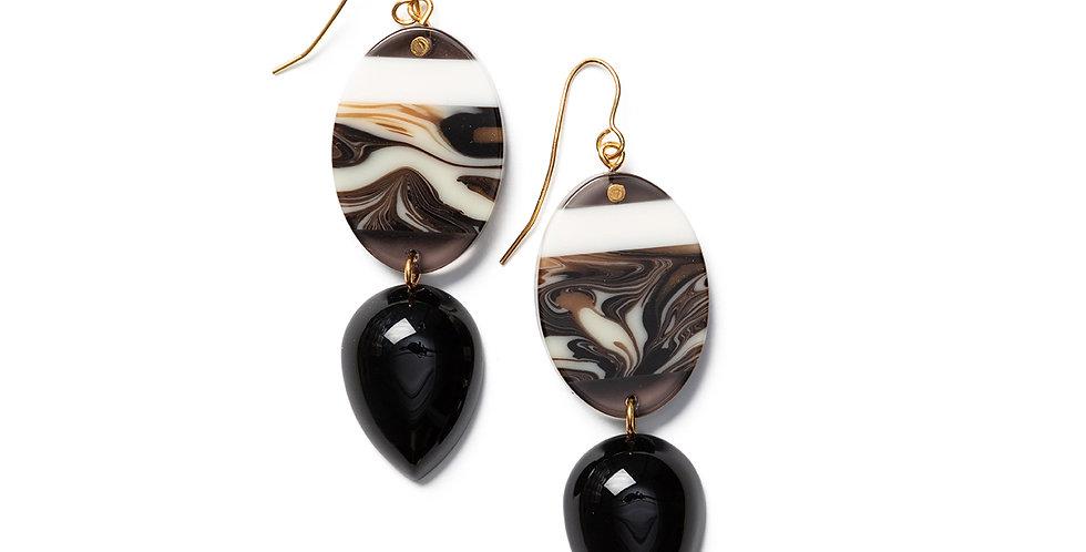 Bara earrings black