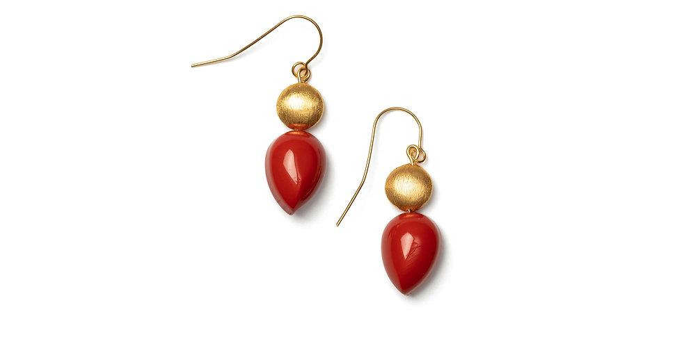 Mar earrings coral