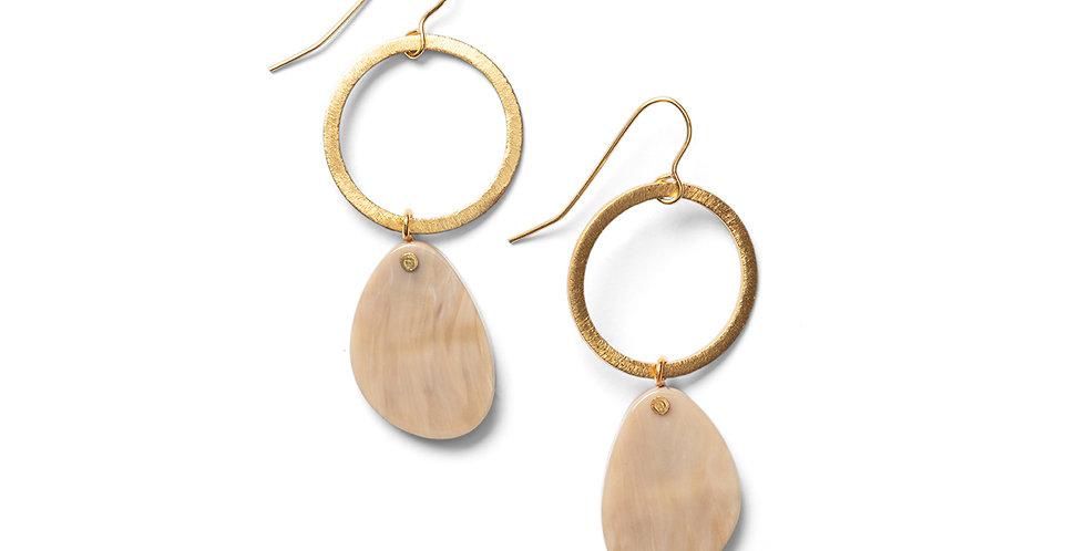 Sora earrings camel