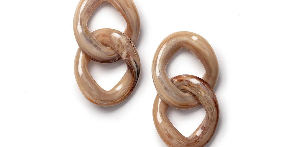 Sakura earrings camel