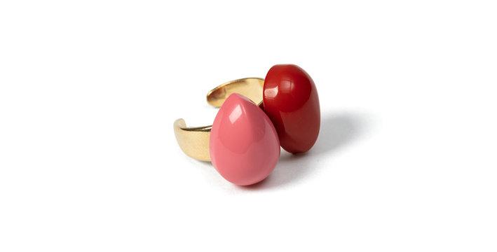 Bien ring pink/coral
