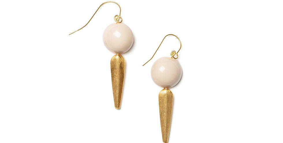 Sombra earrings cream