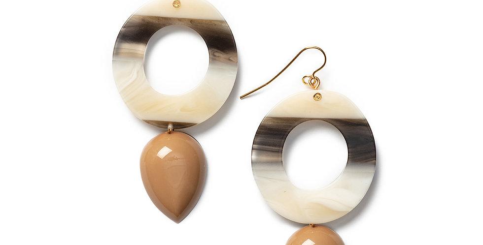 Rama earrings camel