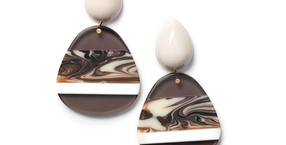 Shima earrings greige