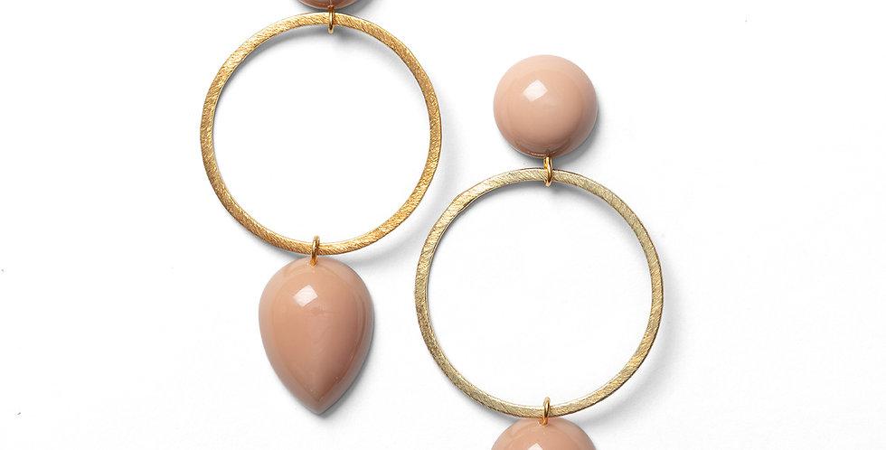 Tama earrings rose