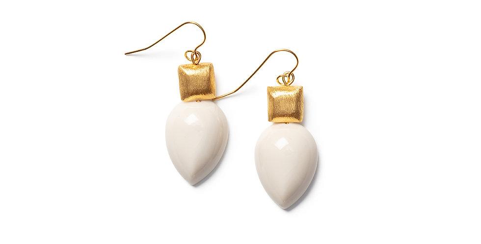 Yagi Earrings beige