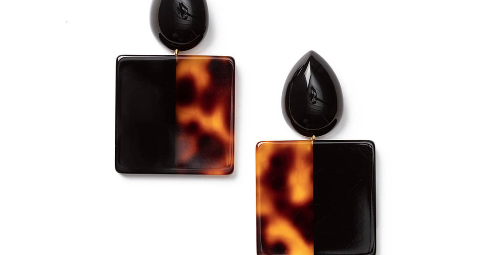 Coeur earrings black