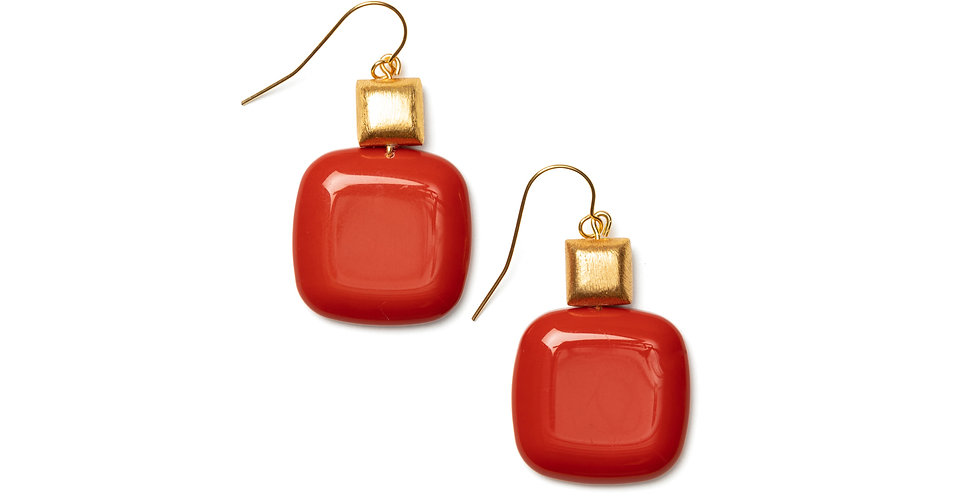Vuelo earrings coral