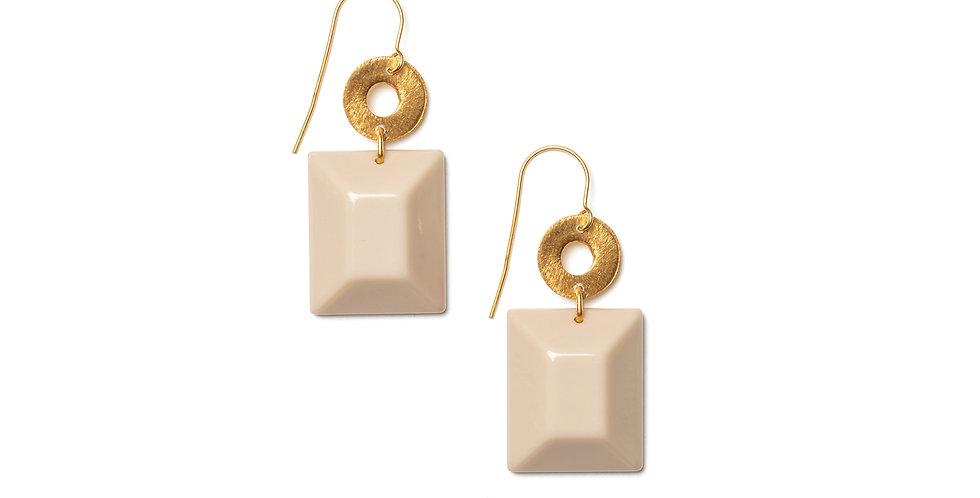 Pecas earrings cream