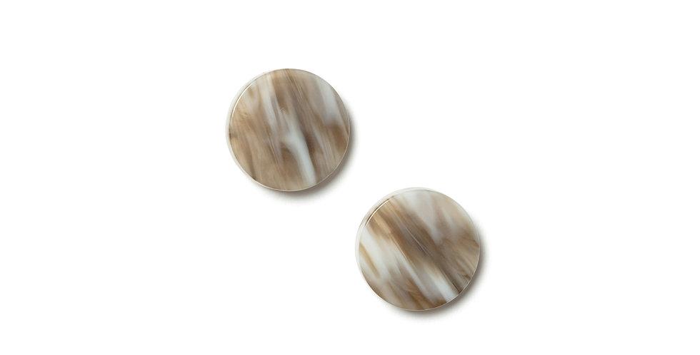 Ash earrings beige