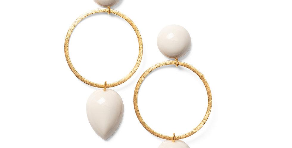 Tama earrings beige