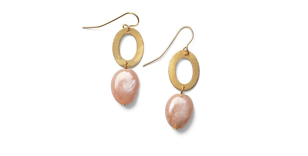 Keshi earrings rose