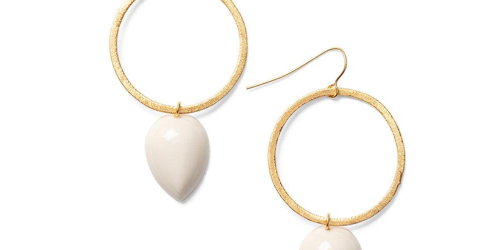 Seiyo earrings greige