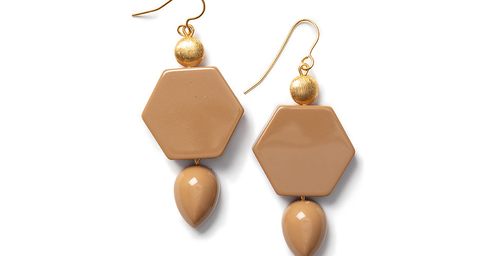 Kochi earrings camel