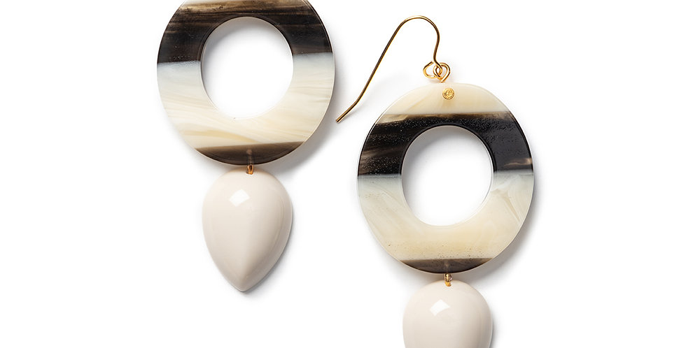 Rama Earrings beige