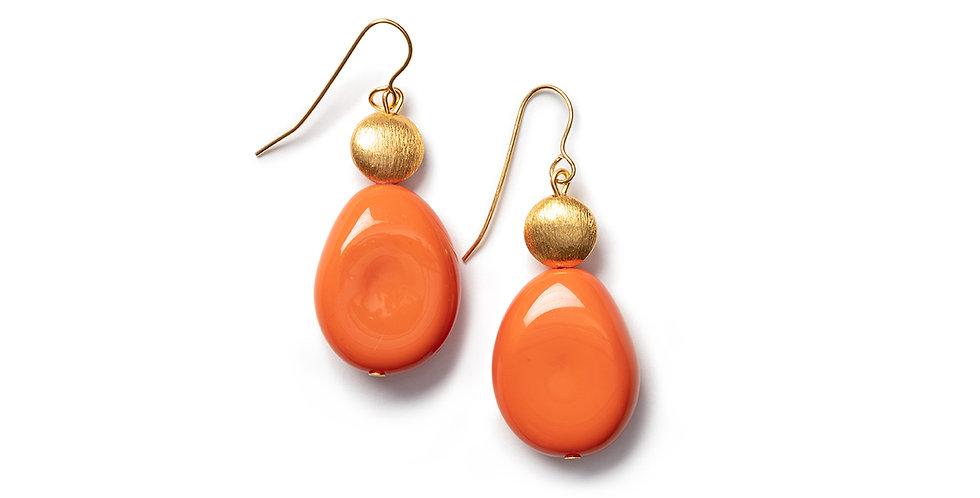 Saki earrings orange